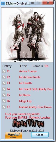 Divinity Original Sin V1.0.36.0 Trainer+8 MrAntiFun