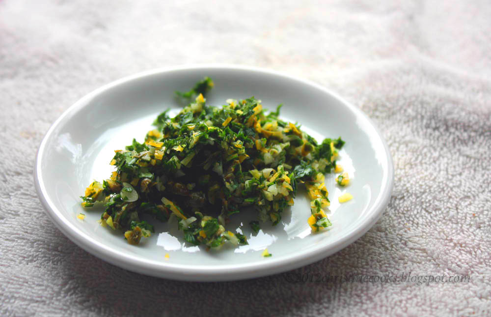 ... Cooks: Garden Fresh Recipe for Gremolata with Meyer Lemon and Capers