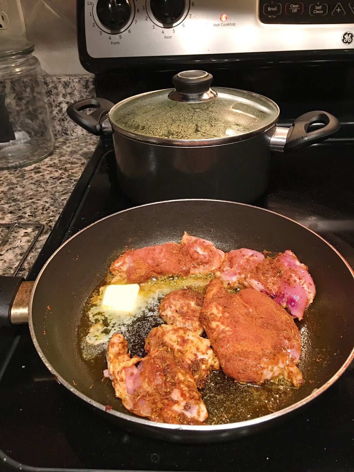 Blue apron yellow grits - Finally I Cooked The Chicken Using Their Trinidadian Curry Spice Blend Which Was Amazing And A Tablespoon Of Butter