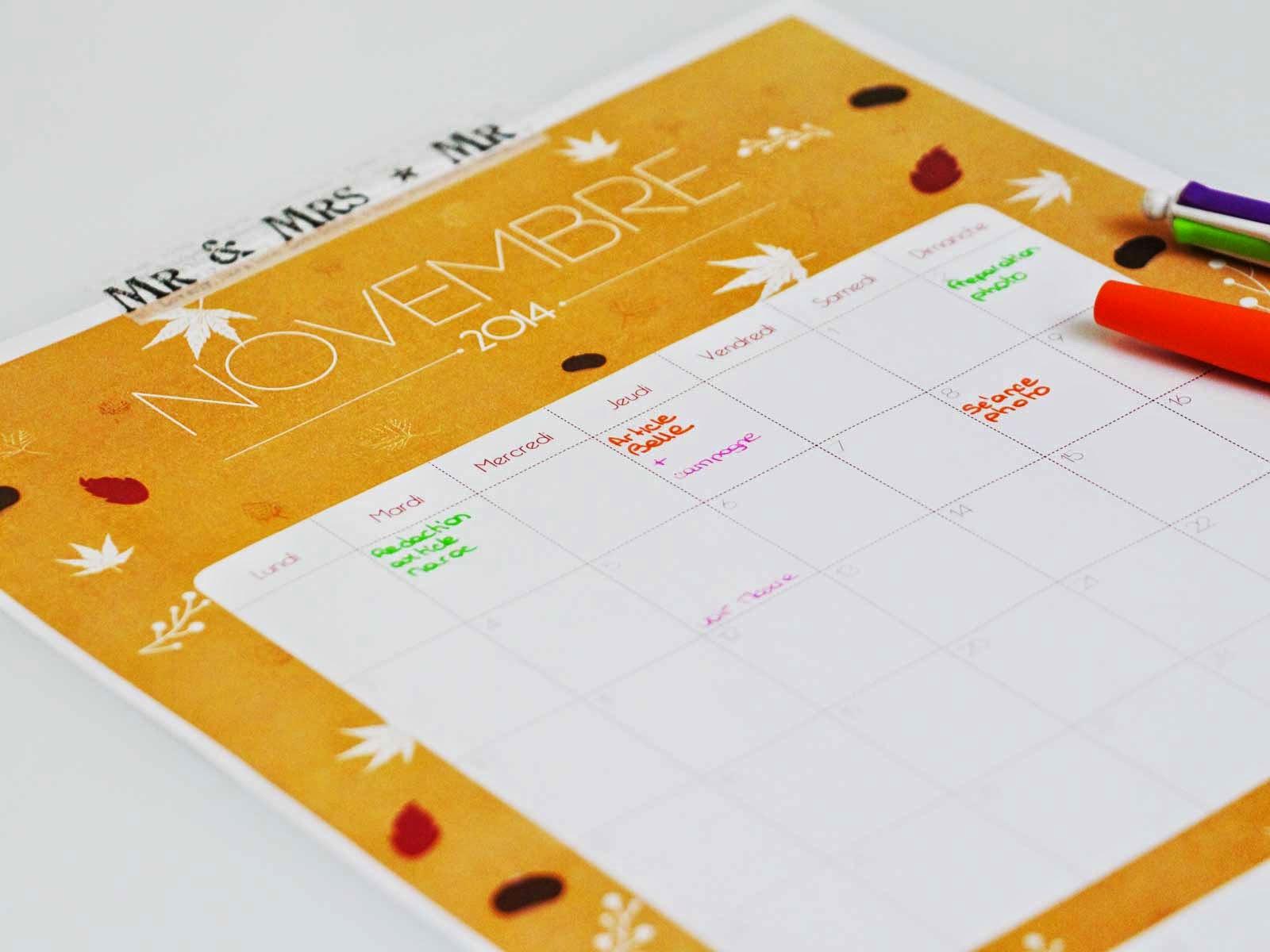 Laitfraisecreation - calendrier novembre