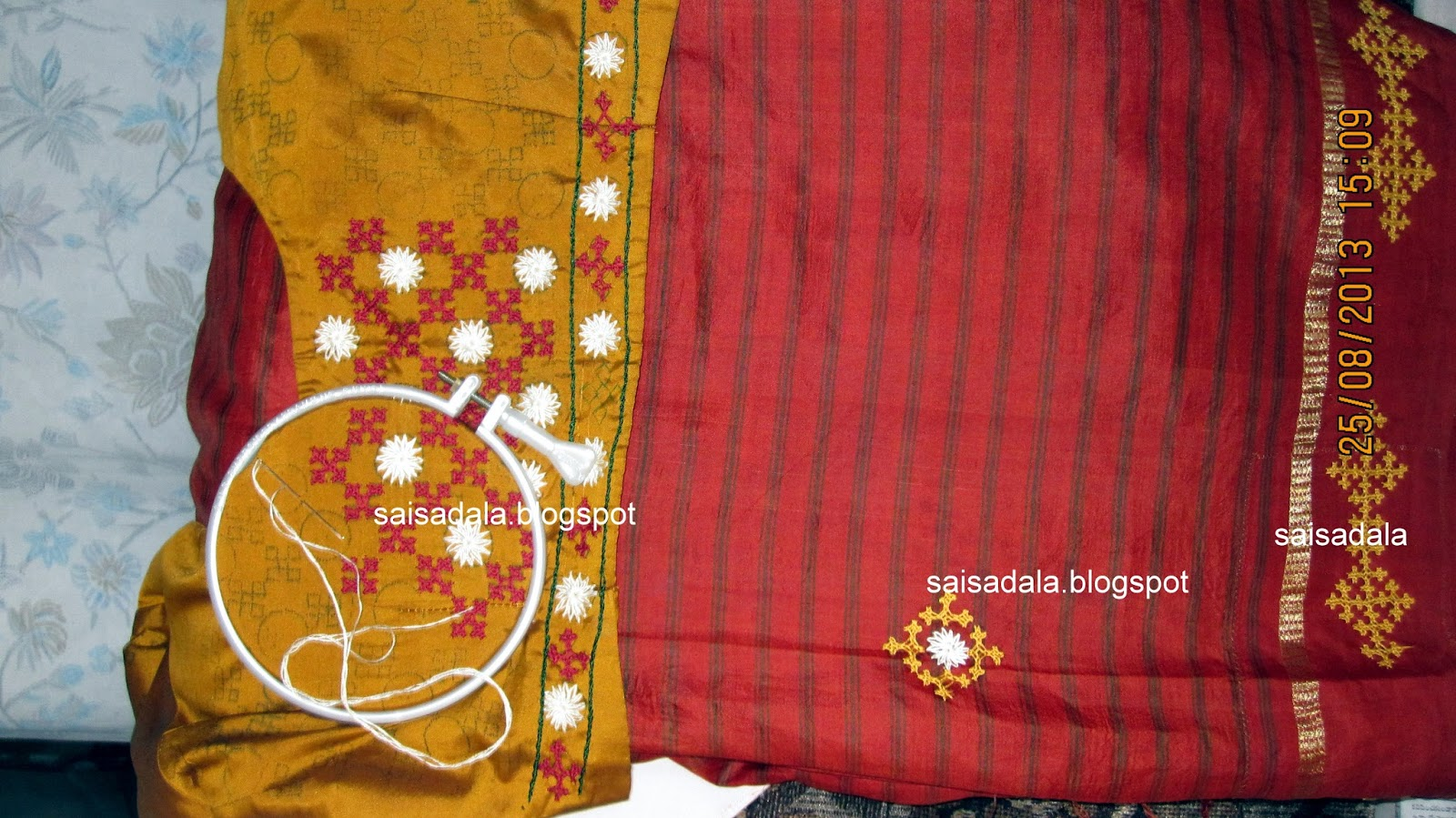 Sadala39s Embroidery Kutch Work Saree