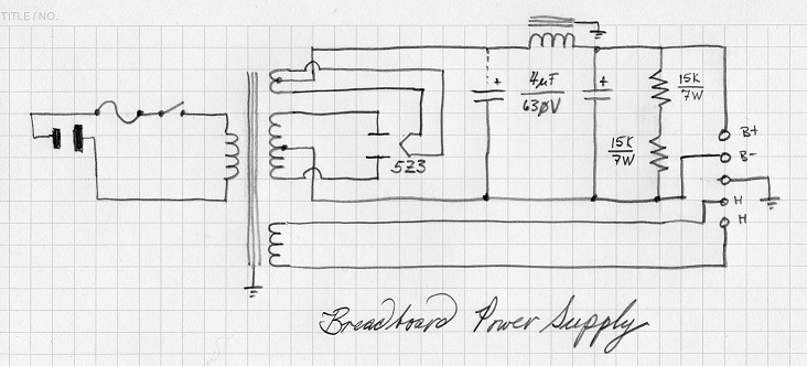 retrotechnologist  breadboard power supply