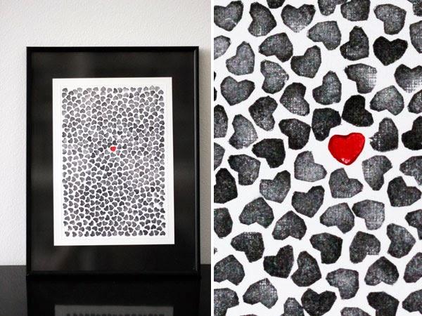 Cuadros para San Valentín en Recicla Inventa