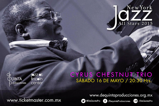 El ciclo New York Jazz All Stars presenta a Cyrus Chesnut Trío en el CC Roberto Cantoral