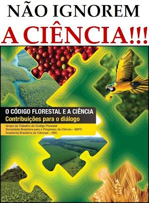 capa do livro-relatório da SBPC e ABC sobre os impactos do novo Código Florestal - políticos, não ignorem a ciência!