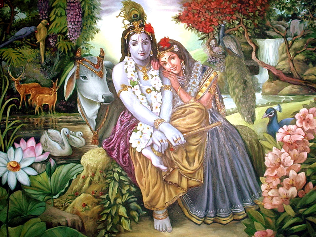 Hd wallpapers radha krishna wallpapers for Mural radha krishna