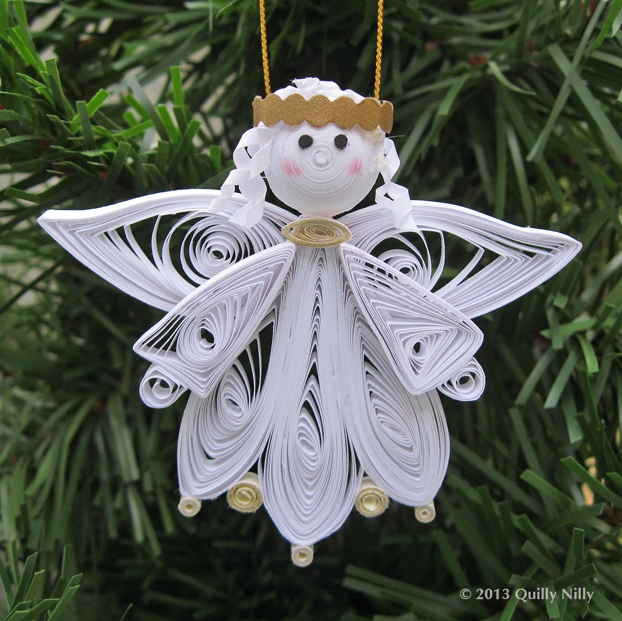 #486131 Quilly Nilly: NEW! Quilled Angel Ornament 6013 decoration de noel quilling 1252x1250 px @ aertt.com