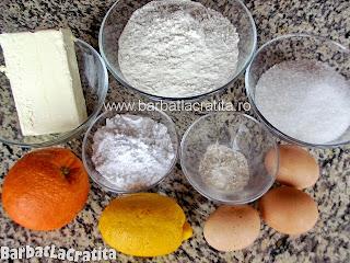 Fursecuri cu lamaie si glazura ingrediente reteta