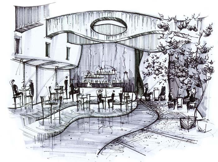 Interior design sketches inspiration with simple ideas for Interior design sketches