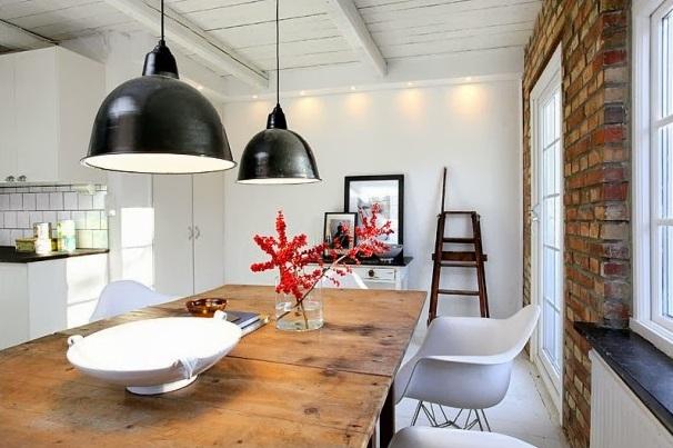 50 pomys w na czerwona ceg w waszej kuchni bajkowe wn trza. Black Bedroom Furniture Sets. Home Design Ideas