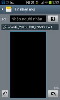 Không chèn được số điện thoại vào tin nhắn máy Samsung galaxy