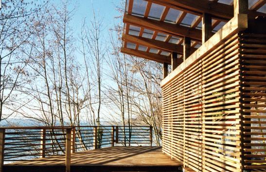 Fotos de techos cerramientos de madera para casas for Techos exteriores para casas