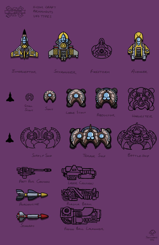 Xcom craft, ufos and armaments