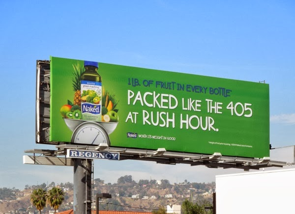 Packed like 405 rush hour Naked Juice billboard