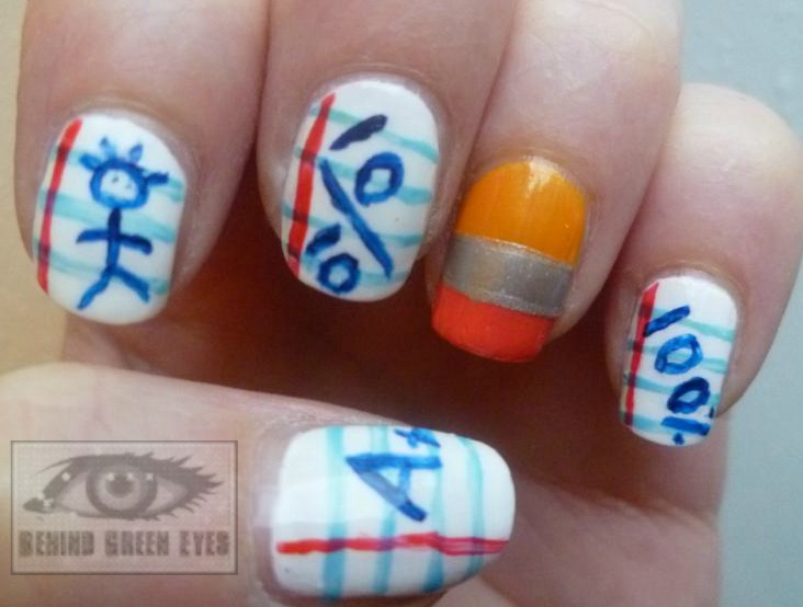 Behind Green Eyes: NOTD: Back to School