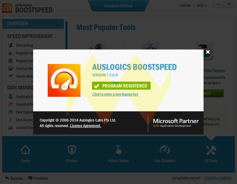 Auslogics BoostSpeed 7.5 Premium