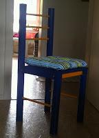 selbstgebauten Stuhl.