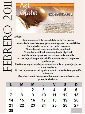 Calendario Febrero 2011
