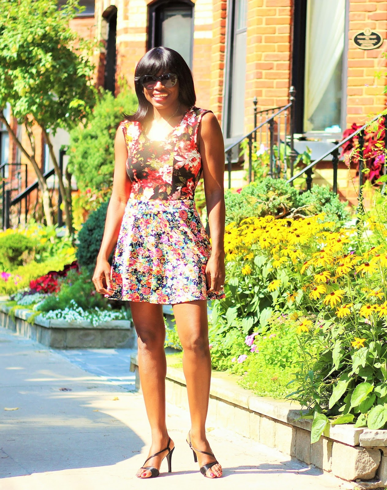 Peplum Top Styled With A Skater Skirt