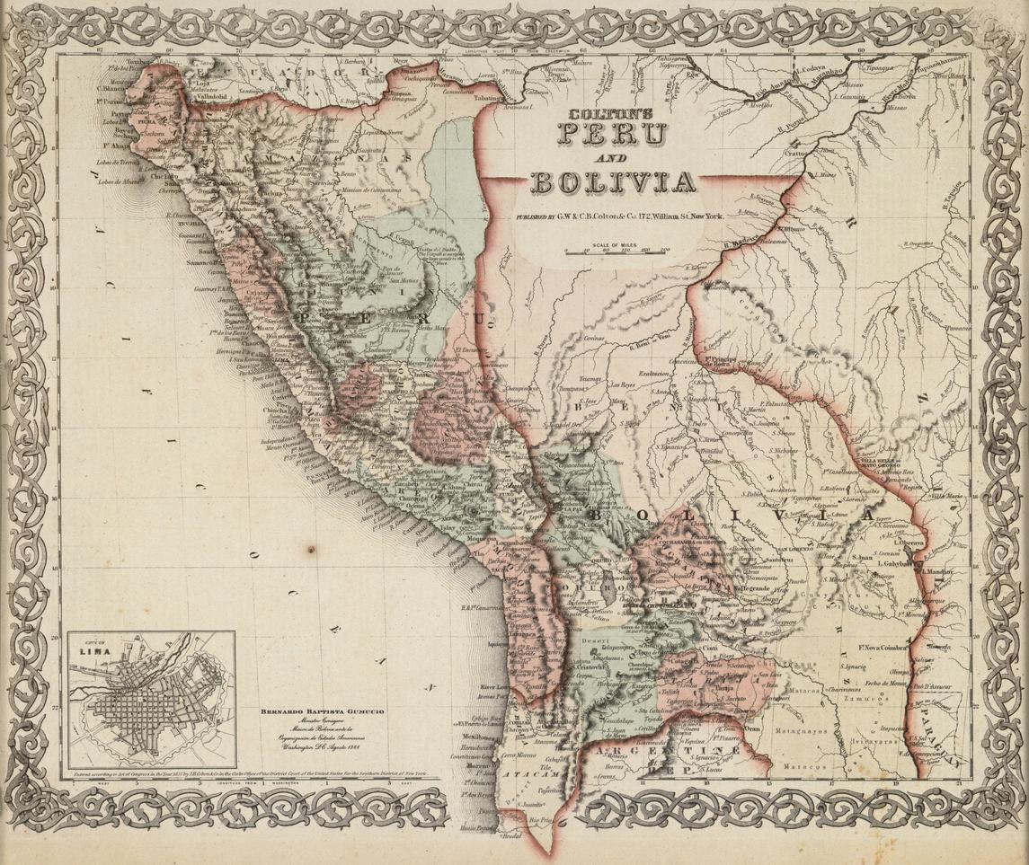 Per y bolivia en 1855 mapa del atlas mundial de colton csar per y bolivia en 1855 mapa del atlas mundial de colton gumiabroncs Gallery