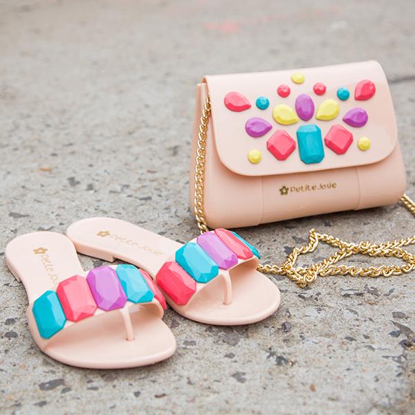 Sandália colorida petite jolie