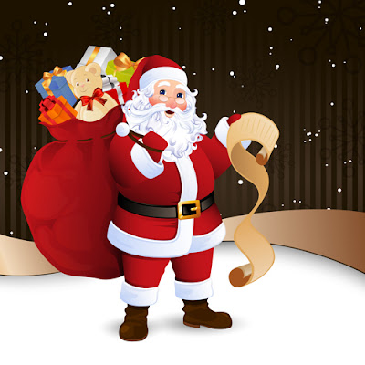 Papa Noel en vector