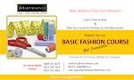 Basic Fashion Course for Juniors!  Ages 10-16: 30 July 2013 @ 10am