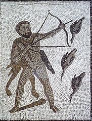 Greek Hero Hercules  slaying the Stymphalian Birds