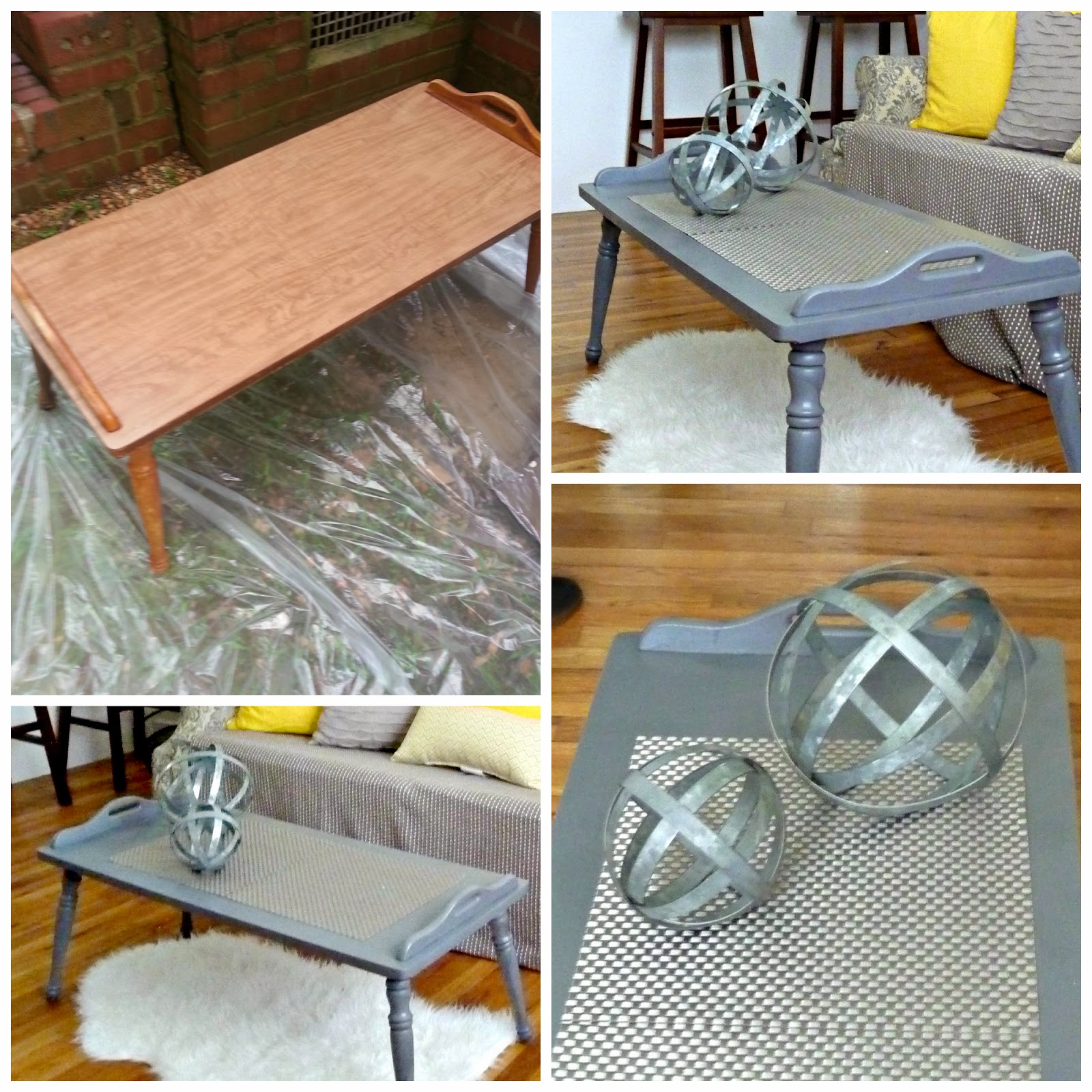 decorating ideas gunmetal grey and yellow world market target crate&barrel upcycle repurpose furniture