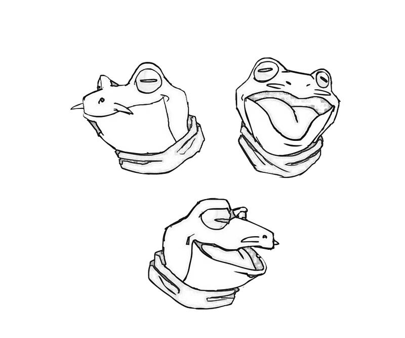frog-face-coloring-pages