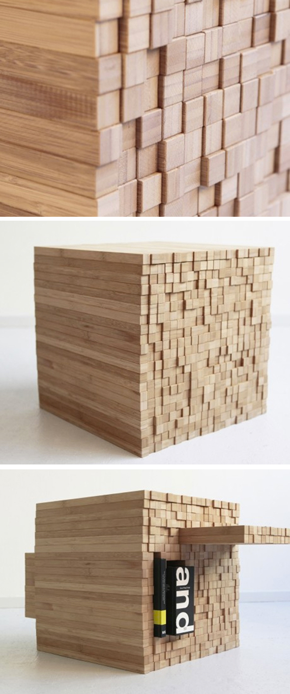 {Design} Pixel table by Studio Intussen
