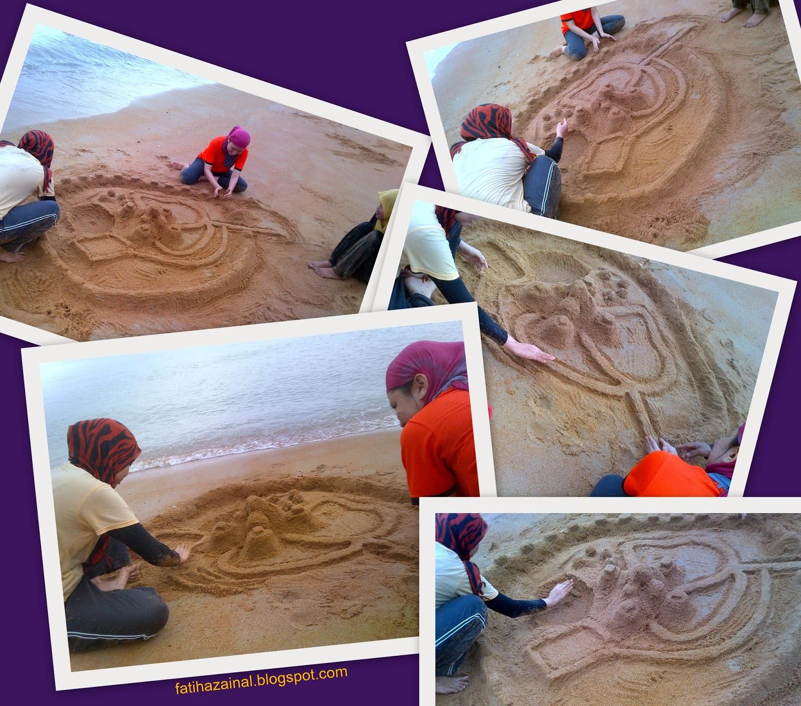 istana pasir, pantai pengkalan balak, main pasir