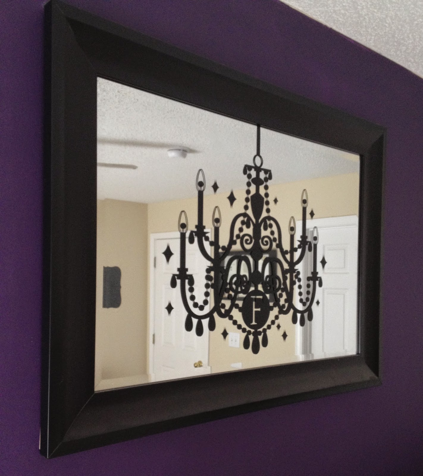 Chandelier Decal on Mirror