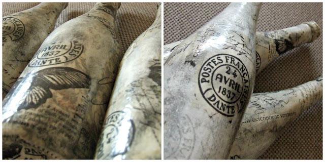 rustykalne wazony decouage z butelek eco manufaktura