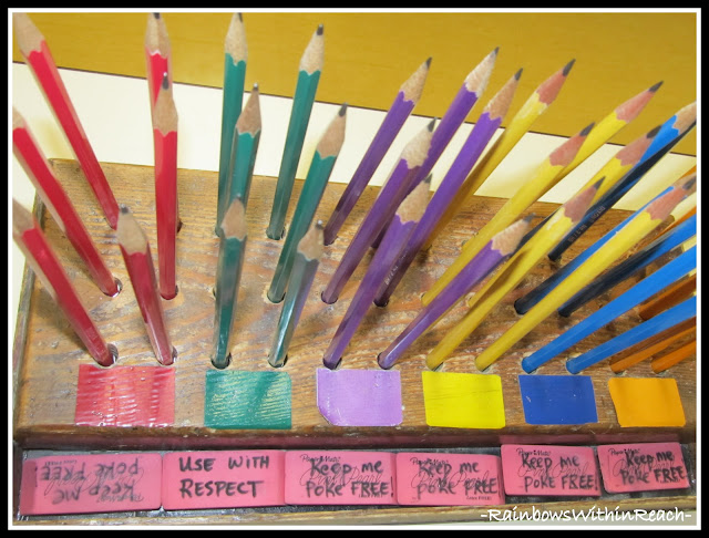 photo of: Art Room Pencils (via Art Room RoundUP from RainbowsWithinReach)