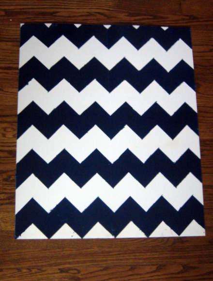 You've got an almost perfect, easy chevron pattern on the backing for the bookcase