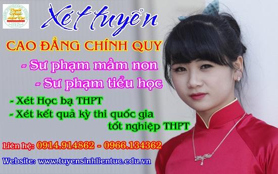 Xét học bạ Cao đẳng Sư phạm Tiểu học chính quy tại Hà Nội