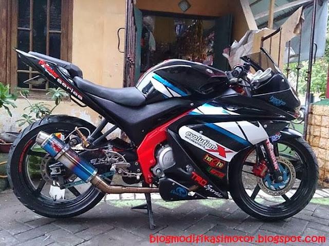 Modifikasi Yamaha Vixion R125 Konsep Sport
