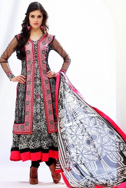 Salwar Kameez Winter 2015-2016   How to Sew Cotton Churidar Suits ...