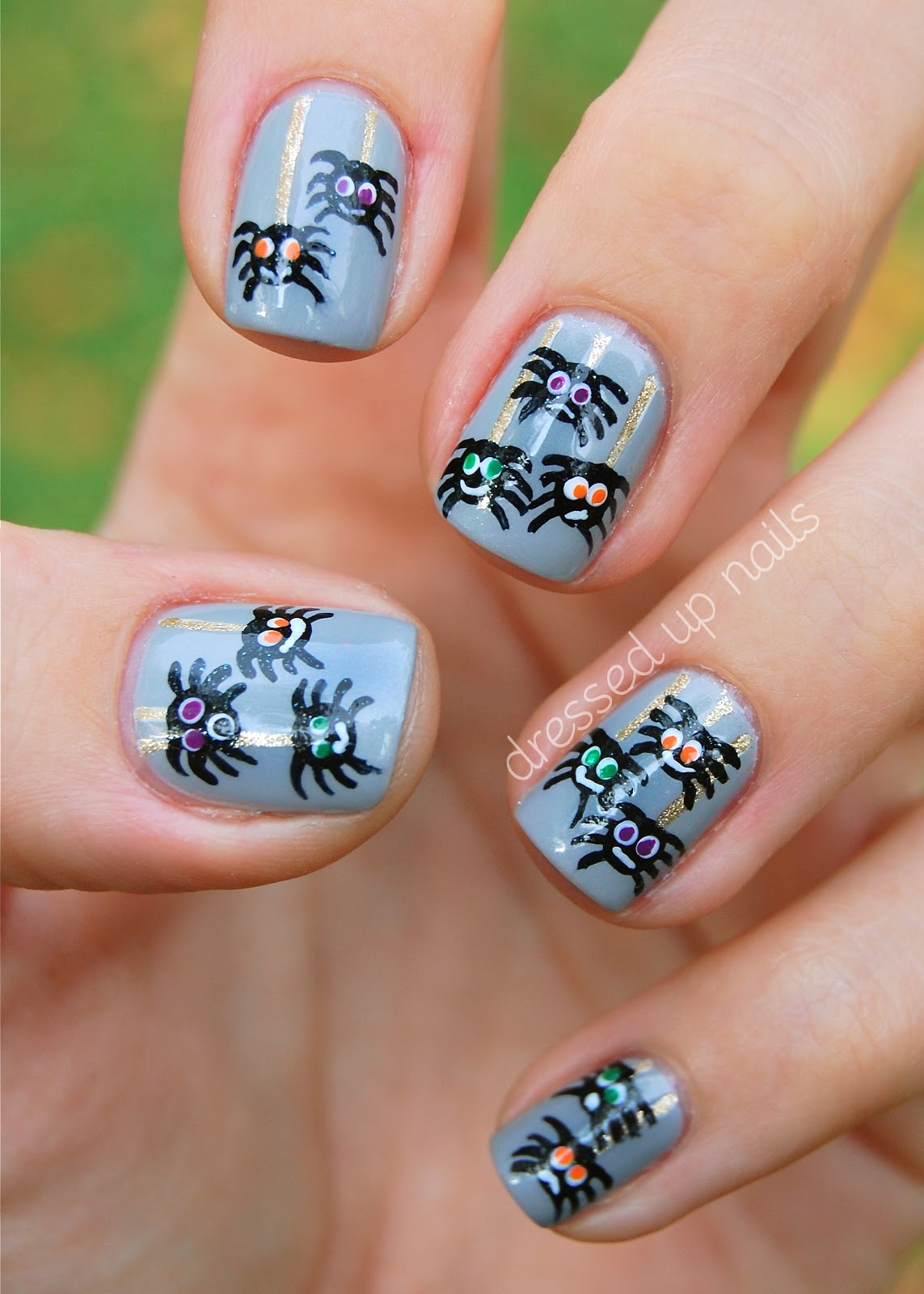 Nail Art Halloween Spiders Nail Arts