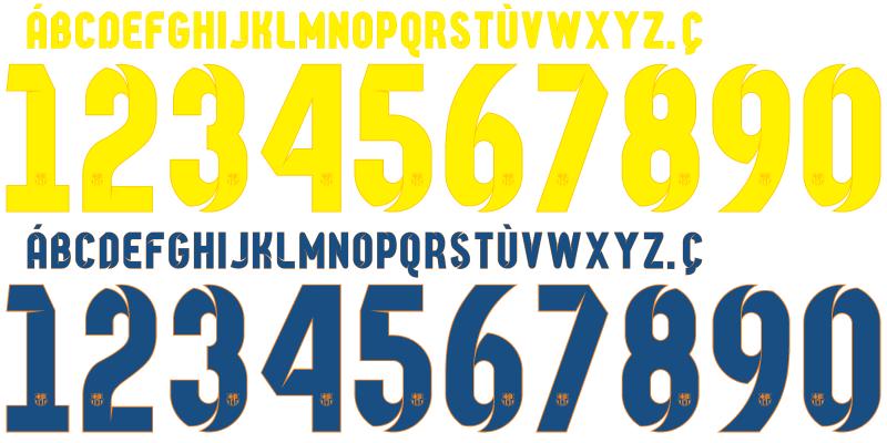 Barcelona Jersey Number Font