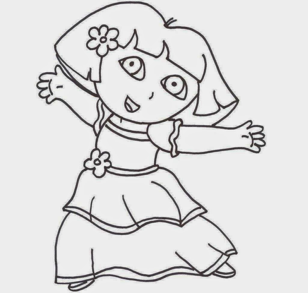 coloring pages dora princess - photo#10
