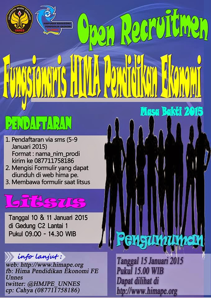 Lets Join Us!! Open Recruitment Fungsionaris HIMA PE