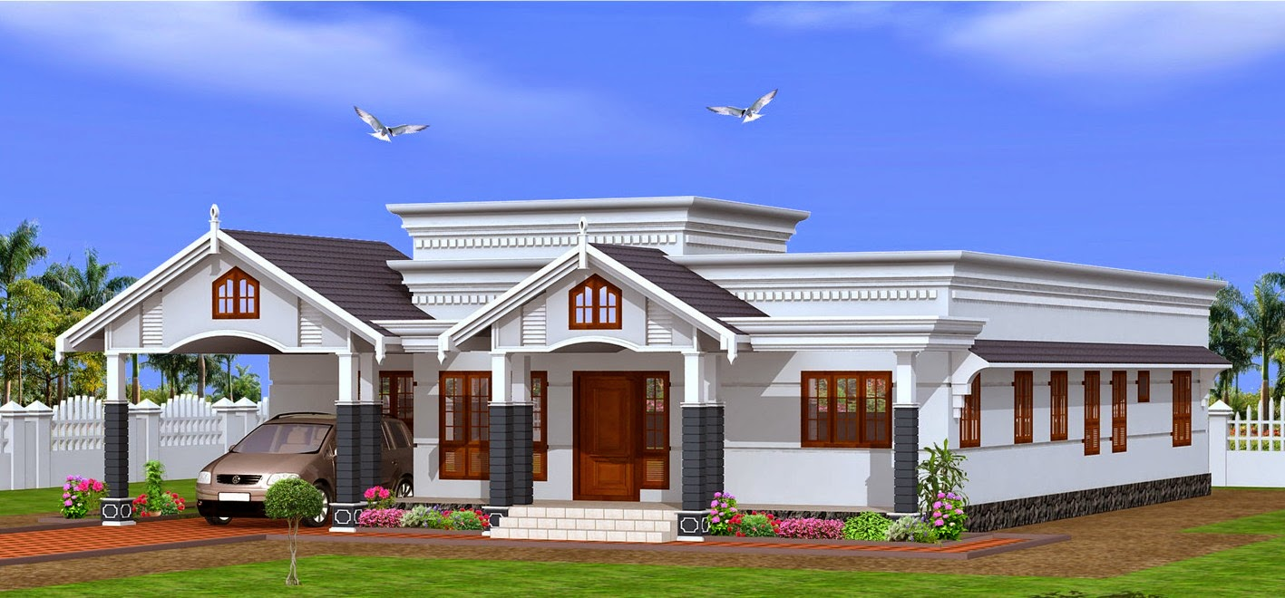 Single floor house plans kerala for Digital house design