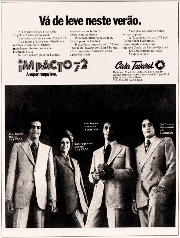 moda anos 70; 1971; propaganda anos 70; história da década de 70; reclames anos 70; brazil in the 70s; Oswaldo Hernandez