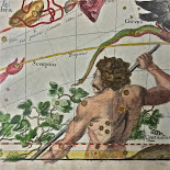 MJH DESIGN ARTS  17th C CelestiaL Hand-Colored Map!