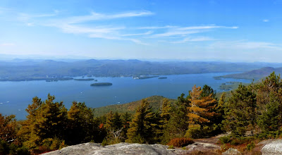 Lake George, from Buck Mountain's summit, Sunday 09/28/2014.  The Saratoga Skier and Hiker, first-hand accounts of adventures in the Adirondacks and beyond, and Gore Mountain ski blog.