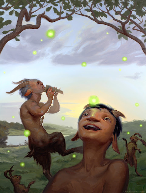 Satyrs at Dusk by Rob Rey - robreyart.com