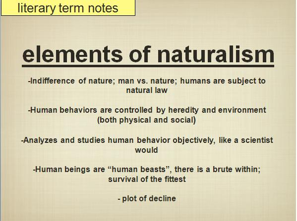 Elements Of Naturalism In To Build A Fire