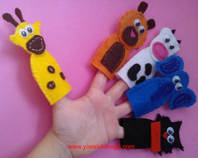 Marionetas para los dedos de fieltro